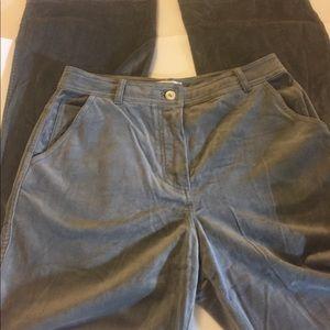 St John Gray Velvet Pants Size 4